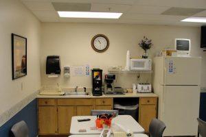 office kitchen area