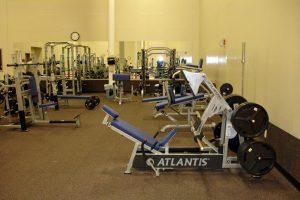 Gym equipment in gym